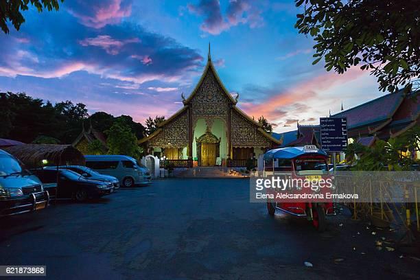 Wat Chiang Man at sunset, Chiang Mai, Thailand