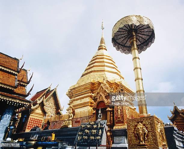 wat doi suthep, thailand, chiang mai - hugh sitton stock pictures, royalty-free photos & images