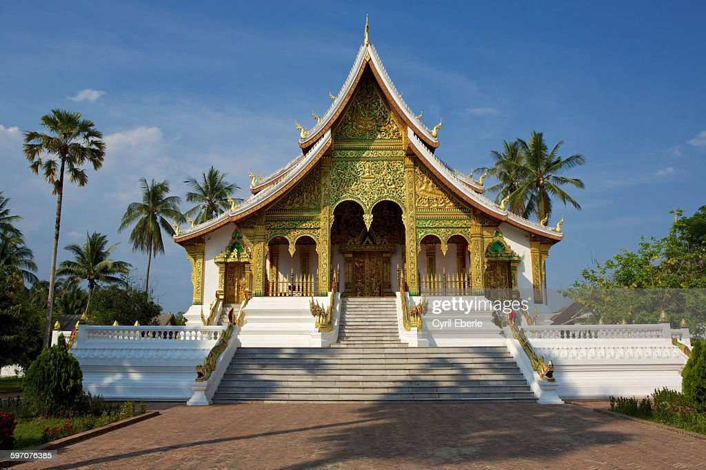 Wat Haw Pha Bang temple Luang Prabang, Laos : Stock Photo
