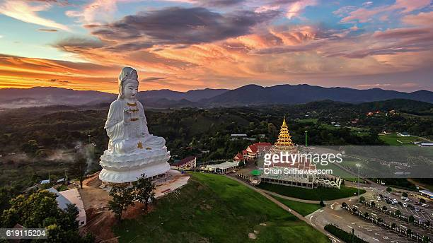 Wat Huay Pla Kang the tourist attraction place in Chiangrai.