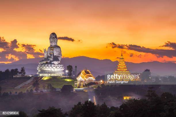 Wat Huay Pla Kang the tourist attraction place in Chiangrai Province.
