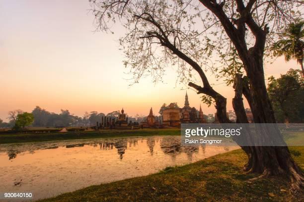 Wat Mahathat temple at Sukhothai historical park.