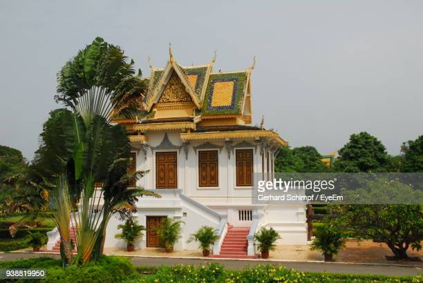 wat ounalom pagoda against clear sky - gerhard schimpf stock photos and pictures