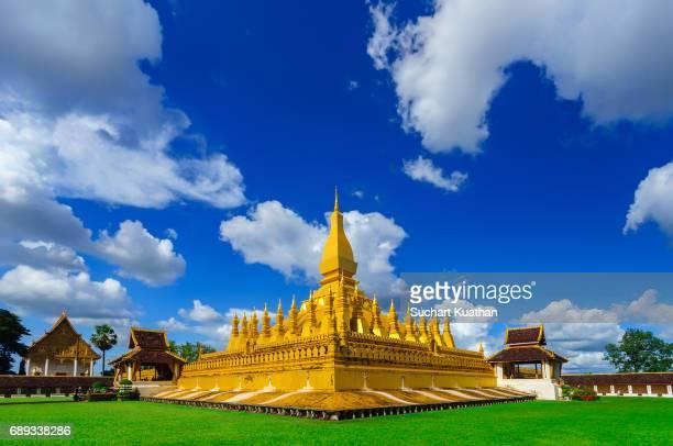 Wat Pha That Luang golden stupa in Vientiane, Laos
