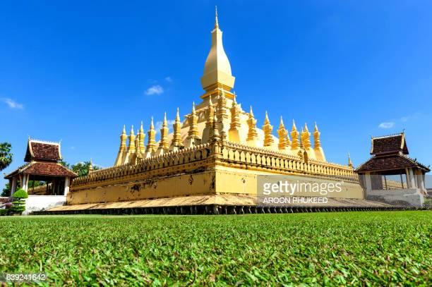 Wat Pha That Luang golden stupa