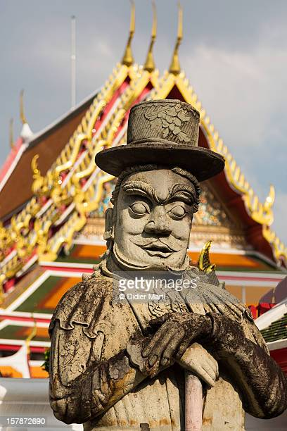 wat pho guard - didier marti stock photos and pictures