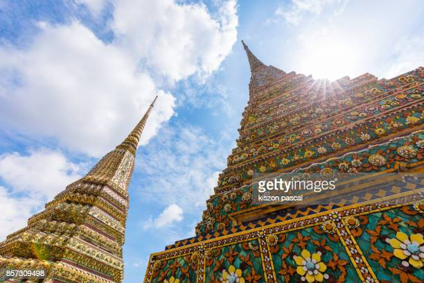 Wat Pho temple in Bangkok in day , Thailand , Asia