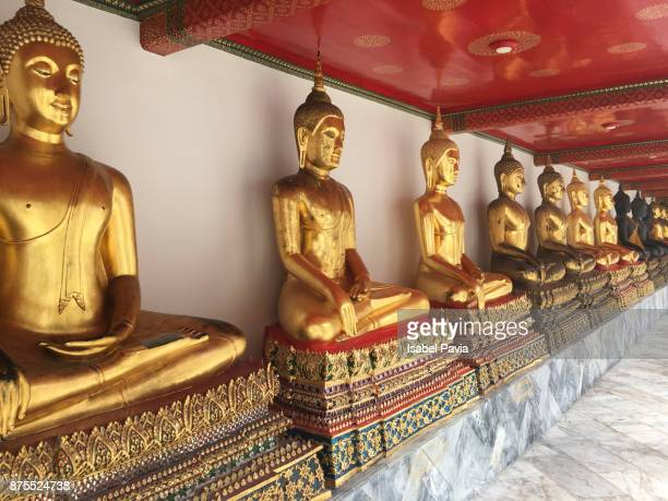 wat pho temple in bangkok, thailand - wat pho stock pictures, royalty-free photos & images