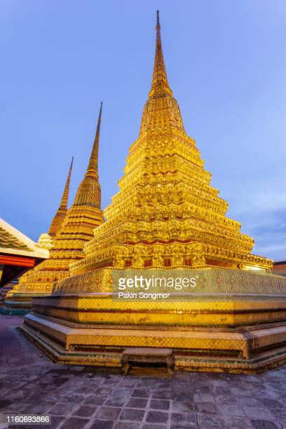 wat pho temple or wat phra chetuphon - wat pho stock pictures, royalty-free photos & images
