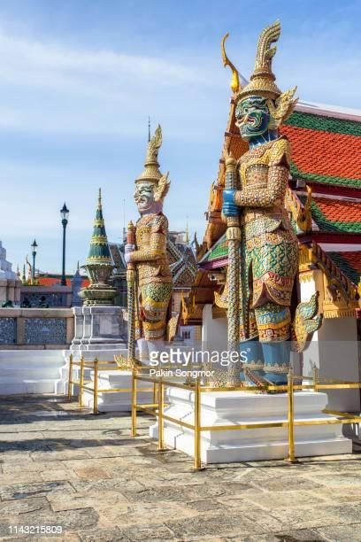 wat phra kaew ancient temple in bangkok - grand palace - bangkok stock pictures, royalty-free photos & images