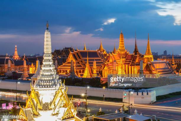 Wat Phra Kaew the famous place in Bangkok, temple of the emerald Buddha and Grand Palace in Bangkok, Thailand.