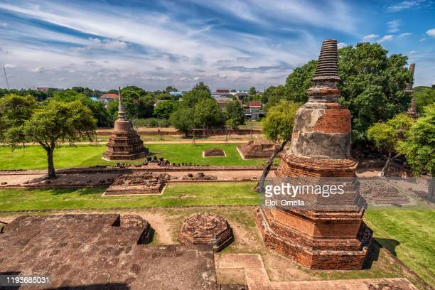 wat phra ram temple in ayutthaya historical park, thailand - ayuthaya province stock pictures, royalty-free photos & images
