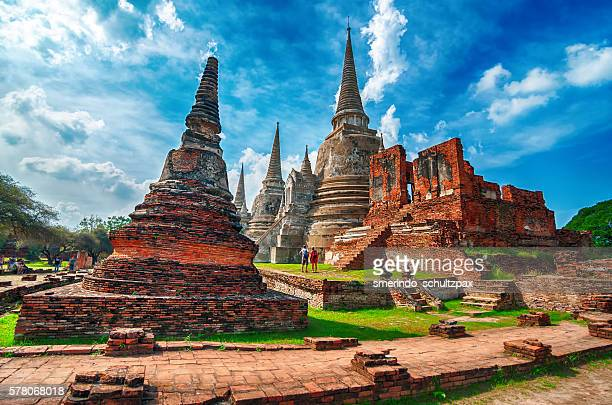 wat phra si sanphet - sri lanka stock pictures, royalty-free photos & images