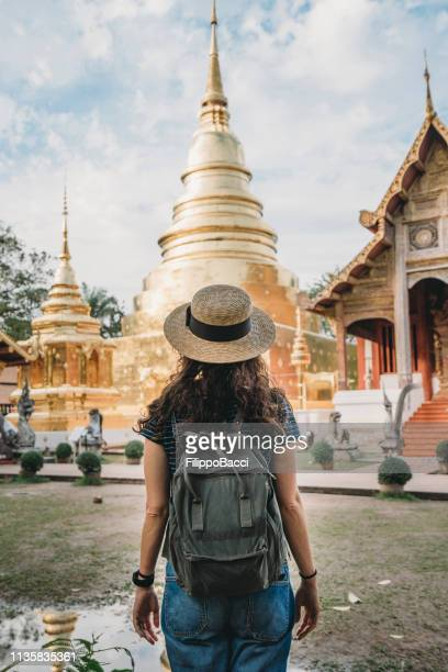 wat phra singh temple in chang mai, thailand - thailand stock pictures, royalty-free photos & images