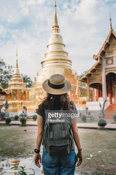 wat phra singh-templet i chang mai, thailand - thailand bildbanksfoton och bilder