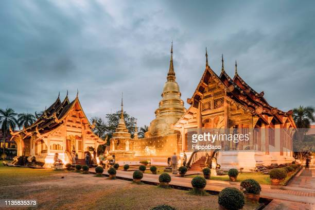 wat phra singh temple in chang mai, thailand - indochina stock pictures, royalty-free photos & images