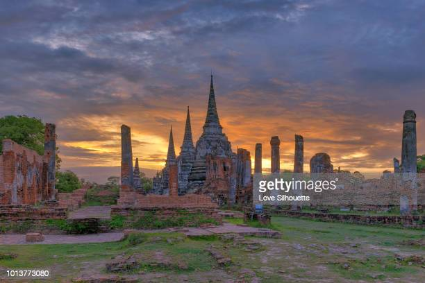 wat phra sri sanphet - ayuthaya province stock pictures, royalty-free photos & images