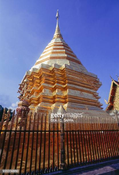 Wat Phra That Doi Suthep Buddhist temple Chiang Mai Thailand 14th century