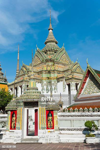 wat po or temple of the reclining buddha in bangkok, thailand. - wat pho stock pictures, royalty-free photos & images