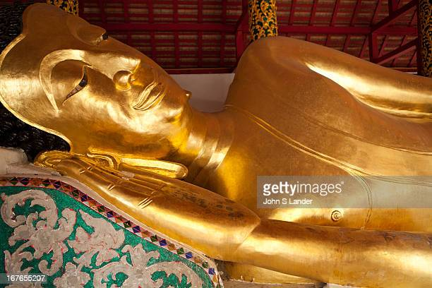 Wat Pongsanuk Reclining Buddha - a sacred temple in the Pongsanuk community of Lampang. It is estimated that this temple was erected in 1888 by Kru...