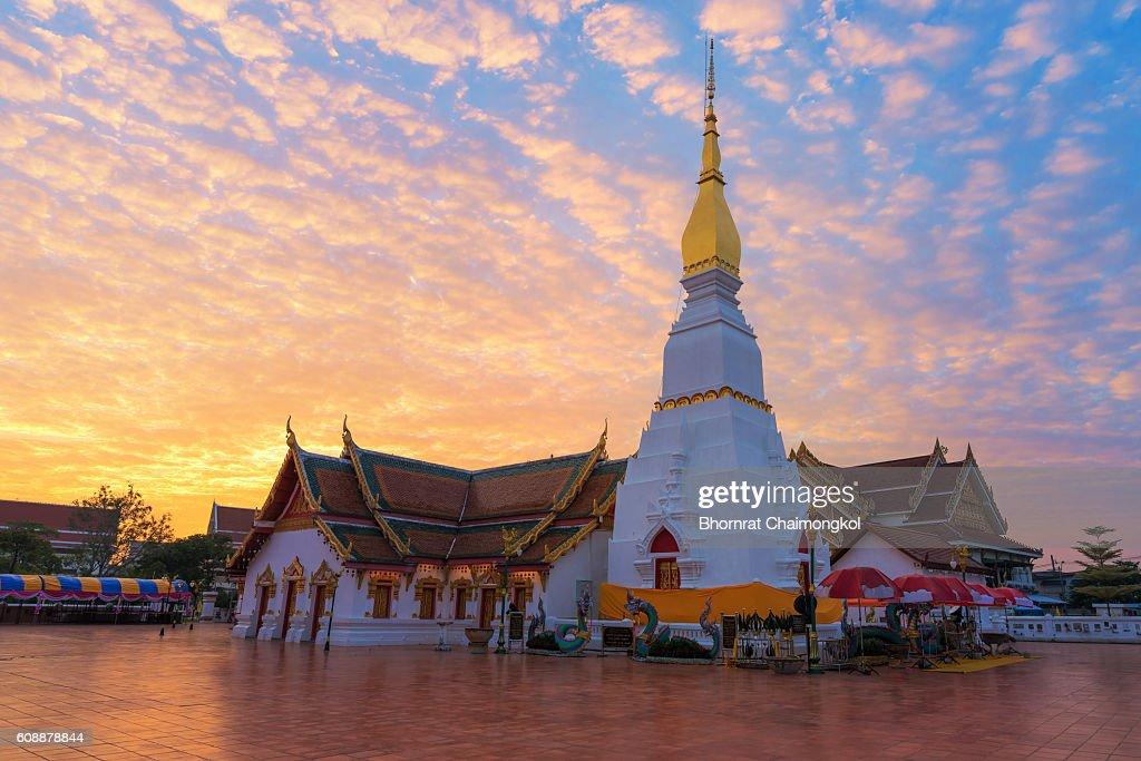 Wat Pratat Choeng Chum In Sakon Nakhon Province Thailand