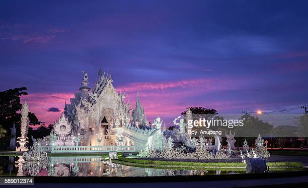 Wat Rong Khun in the twilight time.