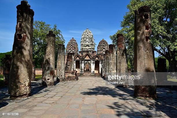 unesco wat si sawai temple sukhothai thailand, asia - wat stock pictures, royalty-free photos & images