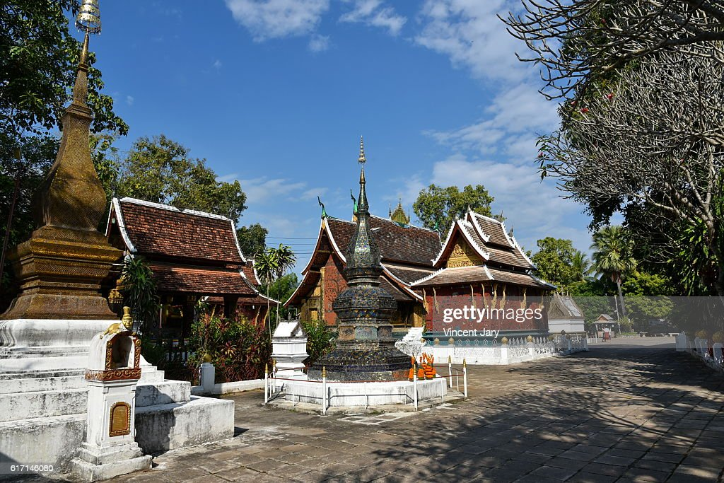 Wat Souvannakhiri temple at luang prabang Laos Asia : Stock Photo