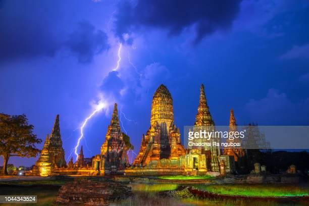 wat thailand,chaiwatthanaram - sukhothai stockfoto's en -beelden