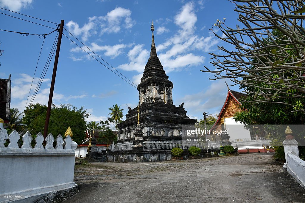 Wat That temple at luang prabang Laos Asia : Stock Photo