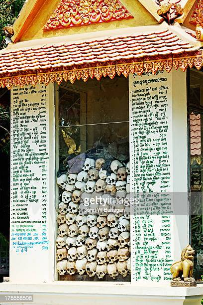wat thmey temple, siem reap, cambodia - killing fields stock pictures, royalty-free photos & images