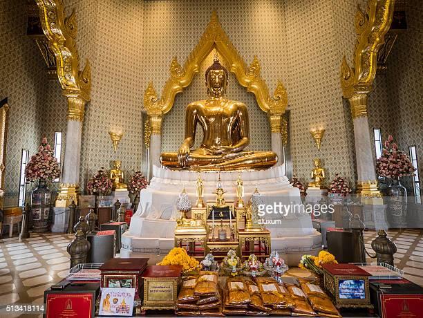 Wat Traimit vecindario chino Chinatown Bangkok Tailandia