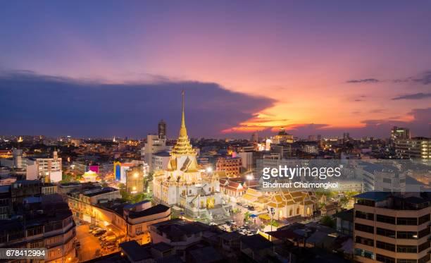 Wat Traimit Witthayaram Worawihan in Bangkok,Thailand