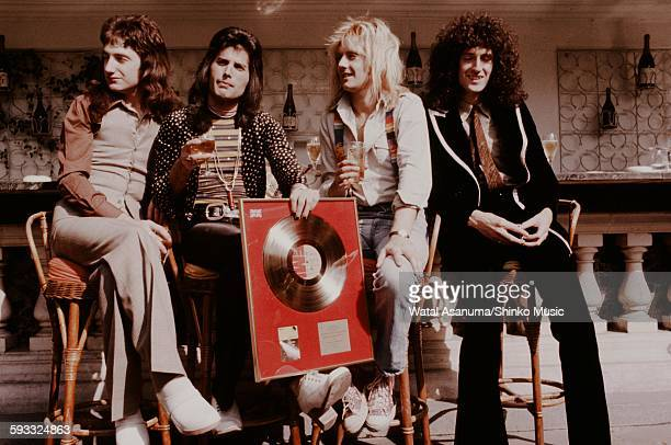 Queen with Gold Disc for the first album Tokyo 1974