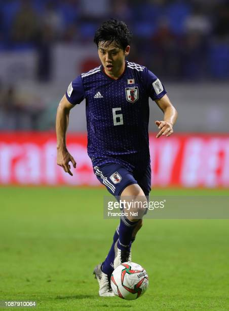 Wataru Endo of Japan during the AFC Asian Cup quarter final match between Vietnam and Japan at Al Maktoum Stadium on January 24 2019 in Dubai United...