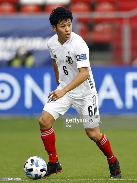 Wataru Endo of Japan during the friendly match between Japan and Ivory Coast at Stadion Galgenwaard on October 13, 2020 in Utrecht, Netherlands. ANP...