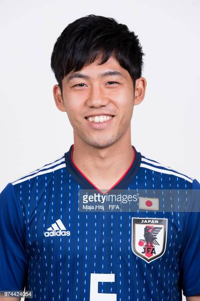 Wataru Endo of Japan poses for a portrait during the official FIFA World Cup 2018 portrait session at the FC Rubin Training Grounds on June 14 2018...