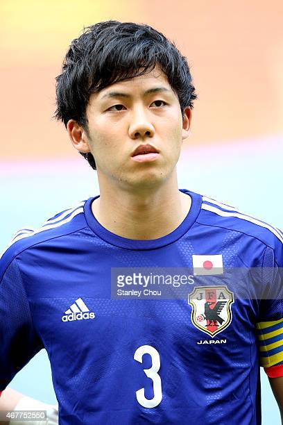 Wataru Endo of Japan poses prior the AFC U23 Championship Qualifier Group I match between Japan and Macau at Shah Alam Stadium on March 27 2015 in...