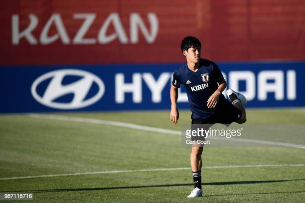Wataru Endo of Japan takes part during a Japan training session on June 29 2018 in Kazan Russia
