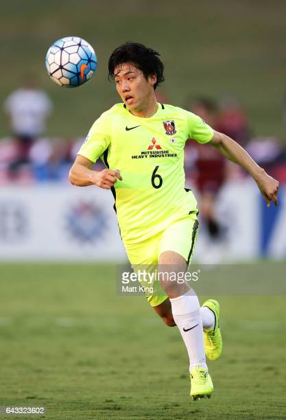 Wataru Endo of Urawa Red Diamonds controls the ball during the AFC Asian Champions League match between the Western Sydney Wanderers and the Urawa...