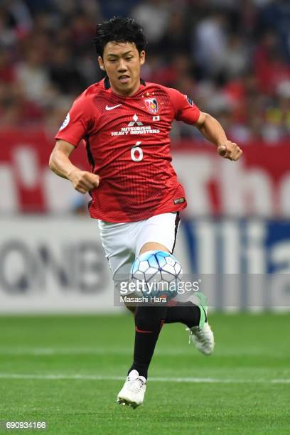 Wataru Endo of Urawa Red Diamonds in action during the AFC Champions League Round of 16 match between Urawa Red Diamonds and Jeju United FC at...