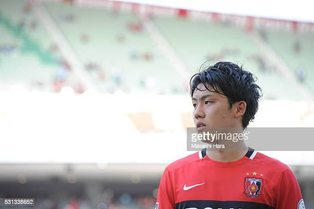 Wataru Endo of Urawa Red Diamonds looks on after the JLeague match between Urawa Red Diamonds and Albirex Nigata at the Saitama stadium on May 14...