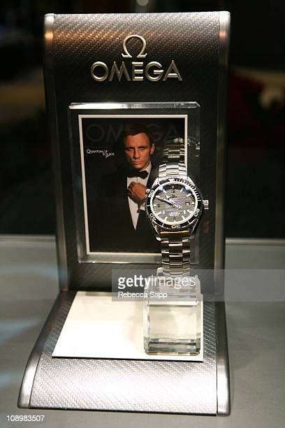 OMEGA watch at OMEGA and Tourbillon Present 'Great Moments in Time with James Bond' at the South Coast Plaza on November 12 2008 in Costa Mesa...