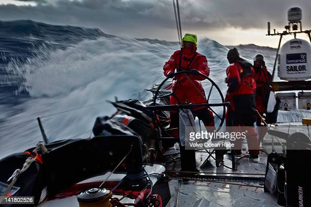 Watch Captain Tony Mutter from New Zealand helms in tough conditions in Southern Ocean onboard PUMA Ocean Racing powered by BERG during leg five of...