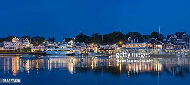 watch hill at twilight - rhode island stock pictures, royalty-free photos & images
