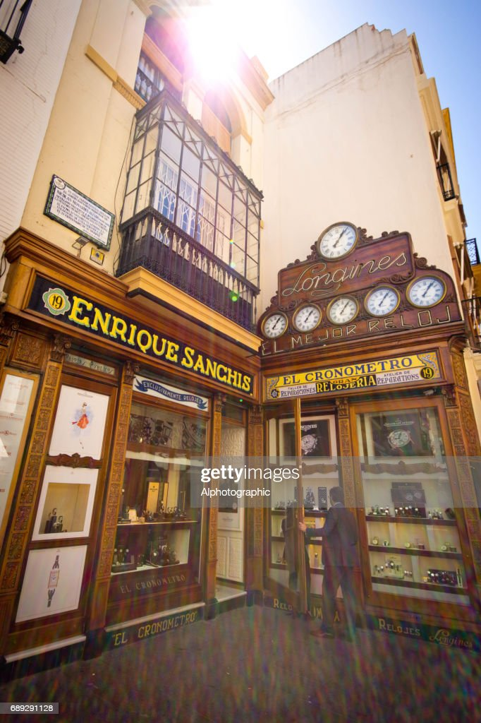 Watch shop in Seville : Stock Photo