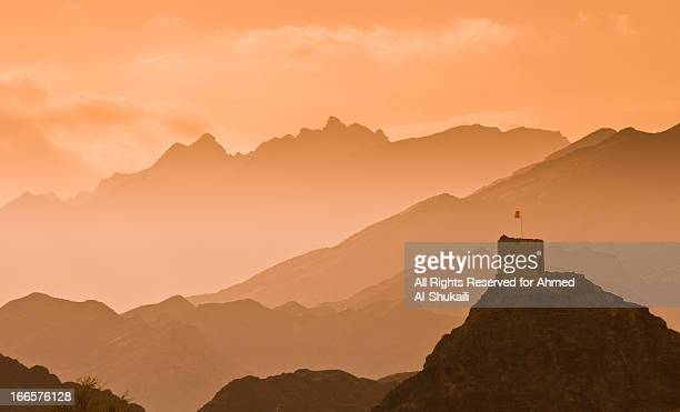 watch tower in fanja - oman stock pictures, royalty-free photos & images