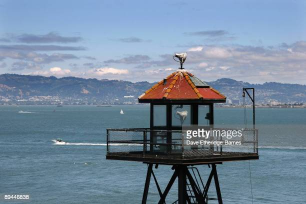 A watch tower on Alcatraz Island on June 13 2009 in San Francisco United States Alcatraz was originally built as a Civil War fortress which then...