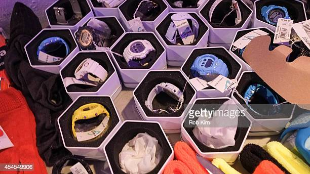 Watches backstage at Athleta during MercedesBenz Fashion Week Spring 2015 at SIR Stage on September 3 2014 in New York City