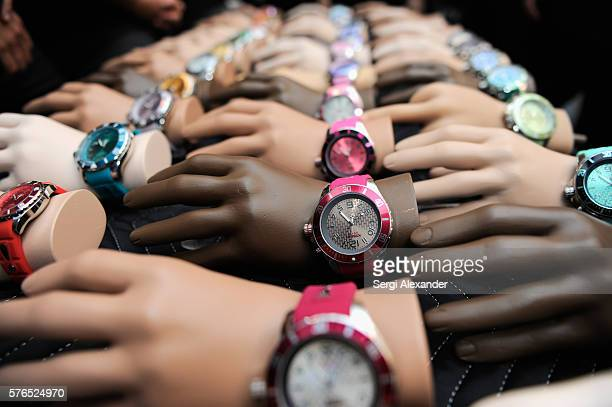 Watches on display at the KYBOE! Watches Miami Swim Week fashion show on July 15, 2016 in Miami Beach, Florida.